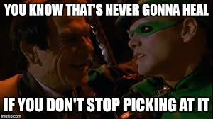 Riddler Meme - image tagged in riddler and two face imgflip
