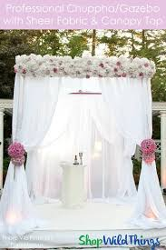 chuppah canopy chuppah ceremony canopy kit ivory white or black