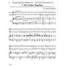 hymns of thanksgiving two violins and piano arranged by
