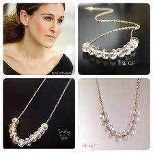 Carrie Necklace Gold Jewels Carrie Bradshaw Necklace Diamonds Gold Jewelry