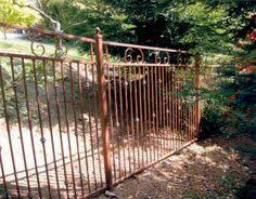 pool fencing curved metal gates san francisco bay area