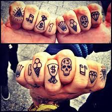 small knuckle symbols tattoos