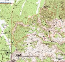New Mexico Topographic Map topographic map of the fairyland loop trail bryce canyon national