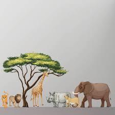 children s wall stickers wall stickers safari animals wall sticker