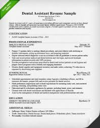 Resume Skills And Abilities Sample by Dental Assistant Resume Sample U0026 Tips Resume Genius
