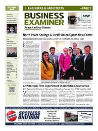 Credit Union Examiner Forum Business Examiner Peace Cariboo Skeena October 2016 By Business
