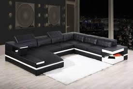modern bonded leather sectional sofa black bonded leather sectional sofa with adjustable headrests