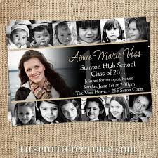how to make graduation announcements collage style graduation announcement invitation print your own