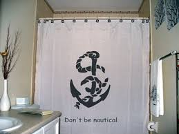 ship boat anchor shower curtain bathroom decor kids bath sailor