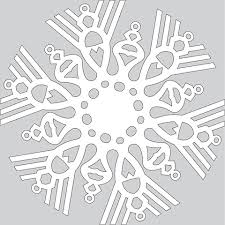 how to make paper snowflake with christmas ornaments tutorial