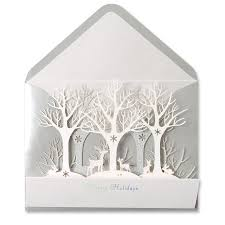 winter forest laser cut card laser cutting cards and christmas