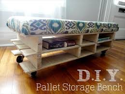 Diy Storage Bench Ideas by Small Store Room Diy Pallet Storage Bench Ideas Pallets Designs