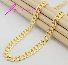 gold chain necklace wholesale images 2015 new fashion 18k gold silver plated men gift chain chunky jpg