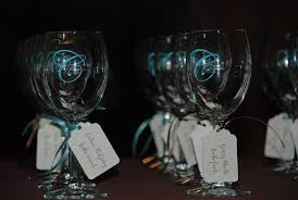 personalized glasses wedding bridal shower personalized alluring wine glass wedding favors
