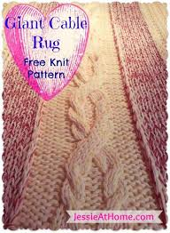 Cable Knit Rug Craftdrawer Crafts Best Knit Rug Patterns Rug Knitting Patterns