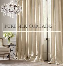 luxurious pure silk curtains made with full blockout lining from 495 95