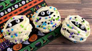 Halloween Mummy Cakes Not Too Scary Mummy Cupcakes Southern Living