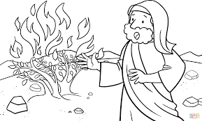 moses talking to god on the mount horeb coloring page free