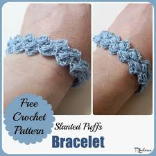 bracelet crochet pattern images Slanted puffs bracelet crochetn 39 crafts jpg