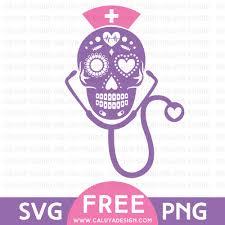 free pumpkin svg sugar skull nurse free svg u0026 png download by caluya design