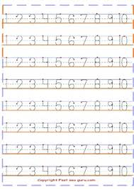 1 to10 number tracing worksheets preschool printable coloring