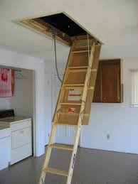 pull down attic stairs telescoping image 86 stairs design ideas