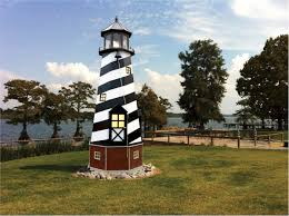 wooden lighthouses lawn decoration poly lighthouse