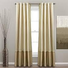 95 Inch Curtain Panels Amazon Com Lush Decor Prima Window Curtain Panel Pair 95 Inch X