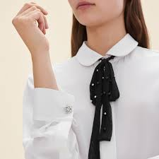 white silk blouse sleeve campi silk blouse with tulle tie tops t shirts maje com
