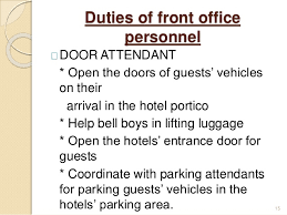 Front Desk Attendant Introduction To Front Office