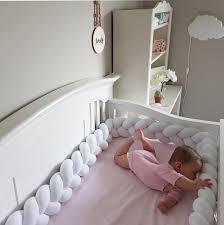 Nursery Decor Canada Braided Crib Bumper For Crib Bedding Nursery Decor Handmade In
