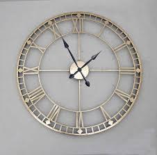 antique style u0027bronze u0026 gold u0027 metal wall clock clocks