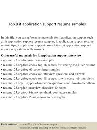 Gaps In Resume Top8itapplicationsupportresumesamples 150528131651 Lva1 App6892 Thumbnail 4 Jpg Cb U003d1432819681