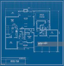 blueprint floor plan vector house floorplan blueprint vector art getty images