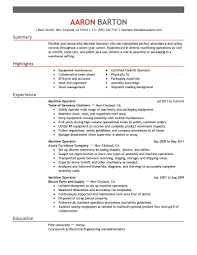 Resume Example Sample Machinist Resume Resume Formt U0026 Cover Letter Examples