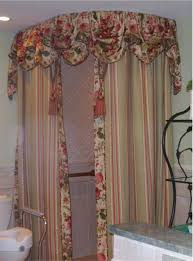 shower curtain topper fabric shower curtains with valance ideas