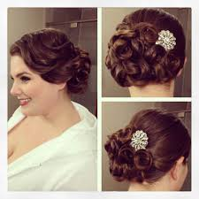 hairstyles pin curls classy curly bun hairstyles wedding about vintage side updo vintage