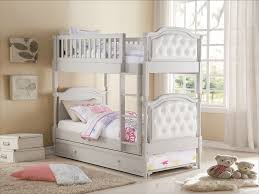 Twin Over Twin Bunk Beds With Trundle by Pearlie Grey Finish U0026 Pearl White Pu Twin Over Twin Bunk Bed Trundle