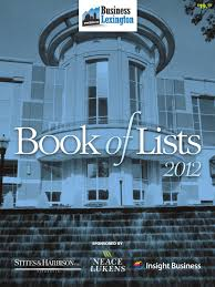 business lexington 2012 book of lists by smiley pete publishing