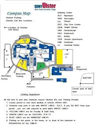 New Paltz Campus Map New Parking Map Jpg