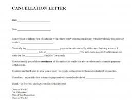 cancellation letter template word templates