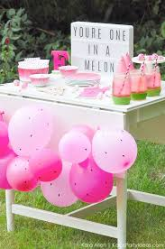watermelon themed diy birthday party dessert treat table by