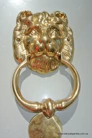 lion solid brass hand made door knocker 6 1 2 u2033 heavy polished