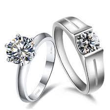 diamond couple rings images Super certificate moissanite couple rings 2ct fine diamond jpg