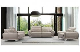 Modern Gray Leather Sofa by Denzel Beige Leather Sofa Set