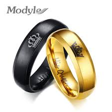 aliexpress buy modyle new fashion wedding rings for online shop modyle 2017 new fashion his and king crown