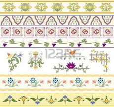 a beautiful collection of floral type ornaments especially for