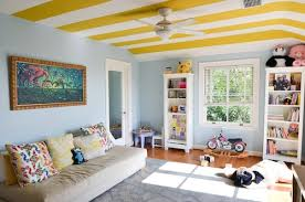 living room playroom living with kids laura tremaine striped ceiling wall colors