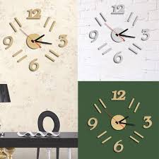 Design Clock by Modern 3d Wall Clock Mirror Design Surface Sticker Home Office