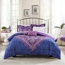 Zebra Bedroom Set Walmart Full Size Bed Set Your Zone Mink Rainbow Zebra Bedding